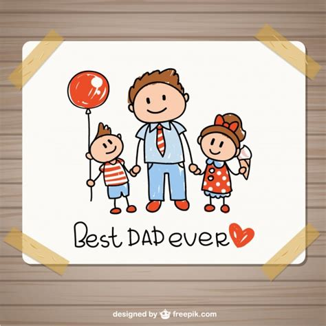 what to draw on a day card drawing fathers day card vector premium