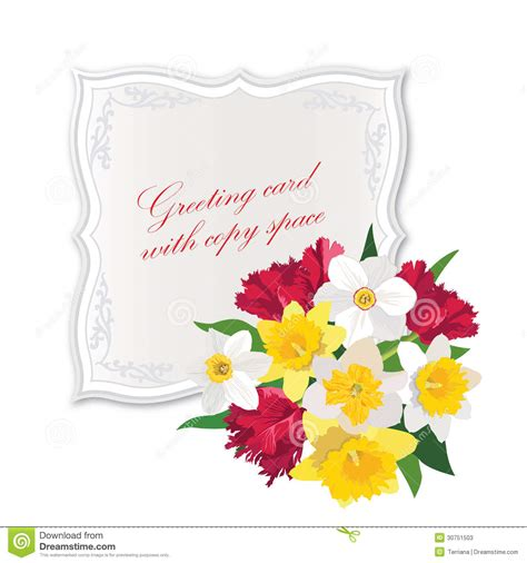 Flower Gift Card - gift card with flower bouquet stock photos image 30751503