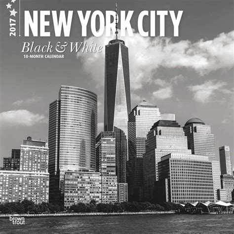 Calendar 2018 Black And White New York Black White Calendars 2018 On Europosters