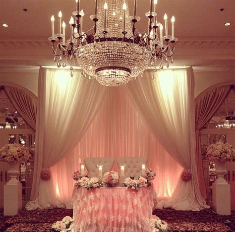 table draping for weddings sweetheart table draping has become a popular feature at