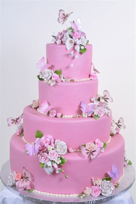 Hochzeitstorte Pink by Wedding Cakes Pictures Pink Butterfly Wedding Cakes