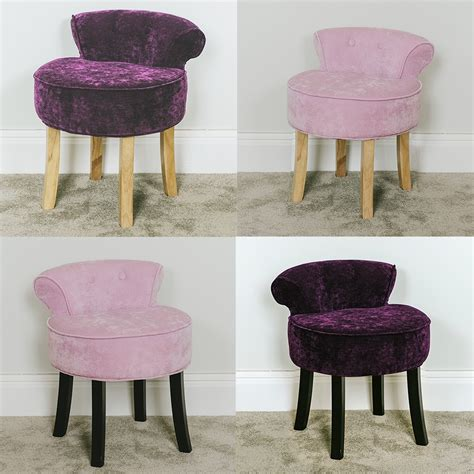 Pink Stool Chair by Pink And Plum Chenille Vanity Stool Dressing Table Chair