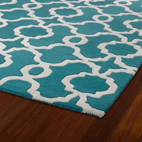 Teal Area Rug District17 Revolution Lattice Rug In Teal Patterned Rugs Fiber Rugs