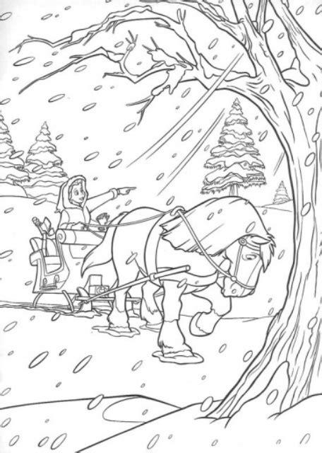 winter a grayscale coloring book books peisaje iarna desene