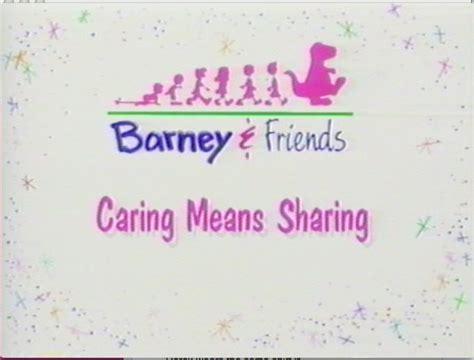 Barney And The Backyard Gang Dvd Caring Means Sharing Barney Wiki