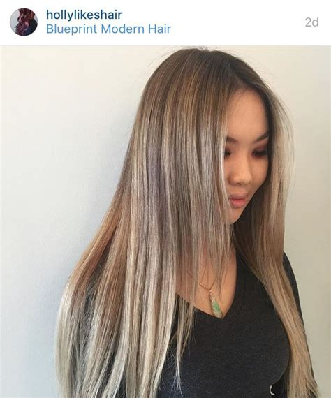 asian hair cutters in portland ash blonde balayage and base on asian hair in portland or