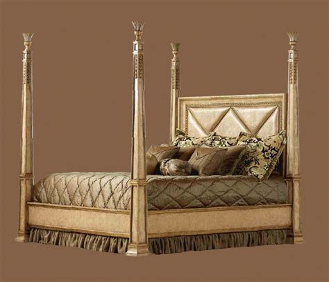 poster headboard high end master bedroom set four poster bed embossed