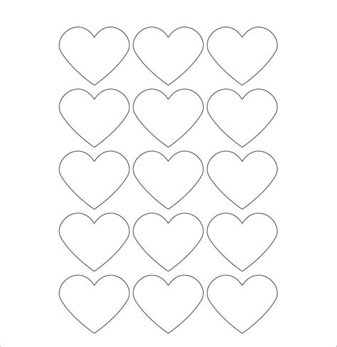 hearts free printable blank label template