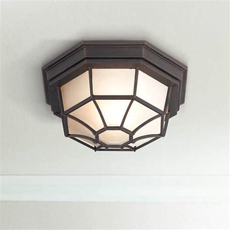 Wide Ceiling Light Fixture Rust 11 Quot Wide Ceiling Light Fixture 62028 Ls Plus
