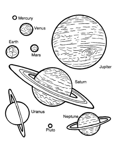 Planets Coloring Page planet coloring pages printable coloring pages