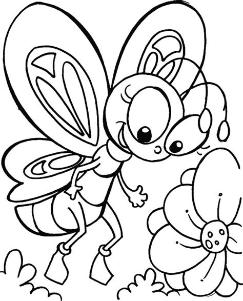 imagenes e mariposas para colorear mariposa con flor coloring pages