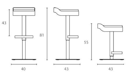 banqueta vista dwg barstool with footrest belt by arrmet design mi ce ba design