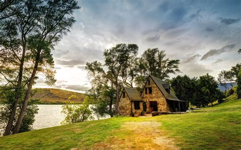 wallpapers for homes country house by the lake hd wallpapers