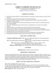 new grad rn resume exles sles of resumes