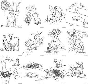 coloring pages of animals in the forest coloring by me coloring books