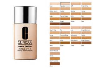 clinique even better makeup color chart best foundation lines for foundations for darker