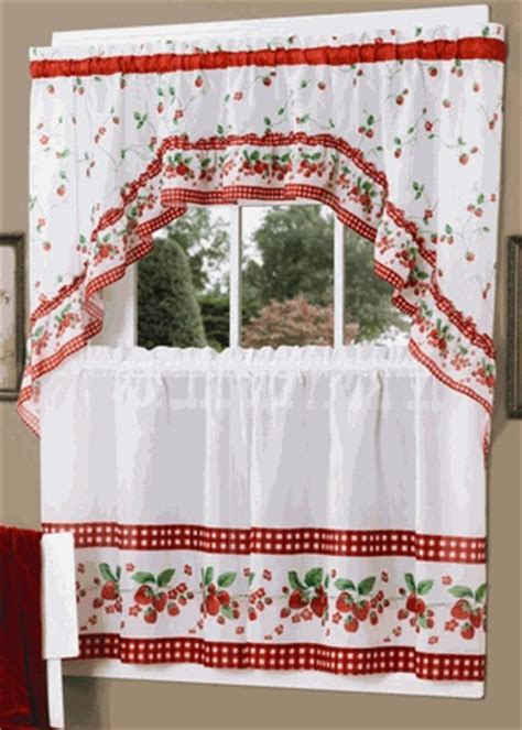 retro kitchen curtains country clutter