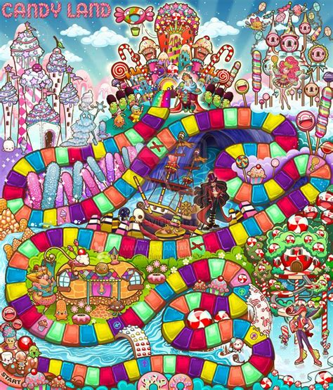 board game layout download candyland game board design for hasbro by caramelaw on