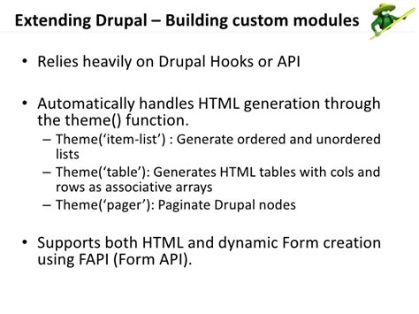 theme drupal function showcasing drupal