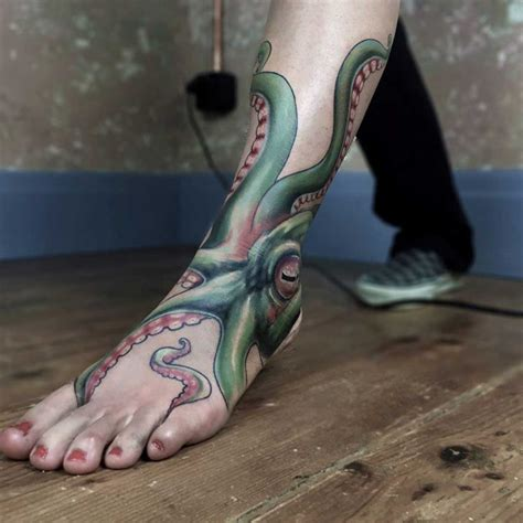 octopus ankle tattoo best tattoo ideas gallery
