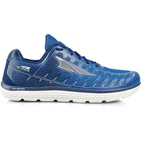 zero drop cushioned running shoes one v3 mens zero drop road running shoes blue grey at
