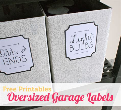 printable labels organizing free labels for organizing the garage