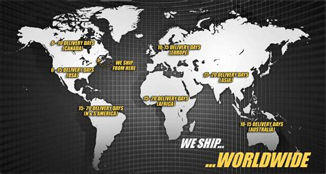 ship worldwide shipping information