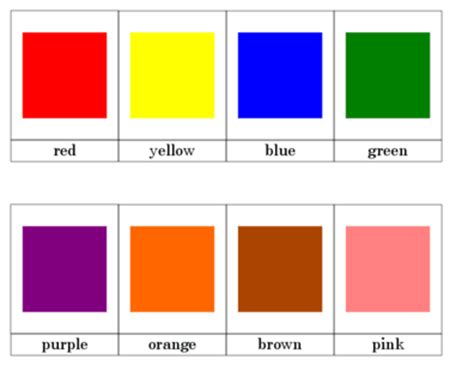 cards color printable color nomenclature cards