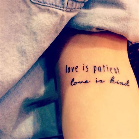one love tattoos 1 corinthians 13 quot is patient is