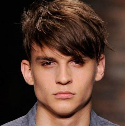boys swept across fringe hairstyles short cut with side swept wispy bangs for the coarse hair