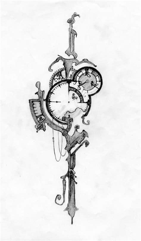 tattoo design deviantart deviantart more like pocket watch tattoo design by