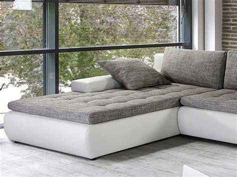 Moderne Ledersofas 339 by Wohnlandschaft Cayenne 389x212 162cm Wei 223 Schwarz Sofa