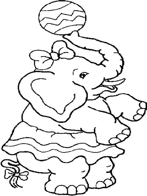 circus elephant 2 coloring page