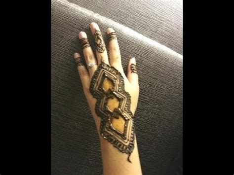 simple arabic henna easy unique diamond mehndi design