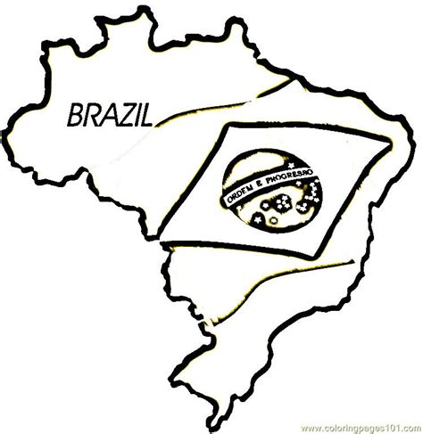 coloring page map of brazil map flag of brazil coloring page free printable coloring