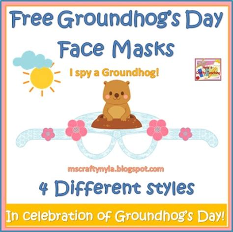 groundhog day free free groundhog s day masks firstgradefaculty