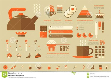 cooking infographic food infographic template stock vector image 45051955