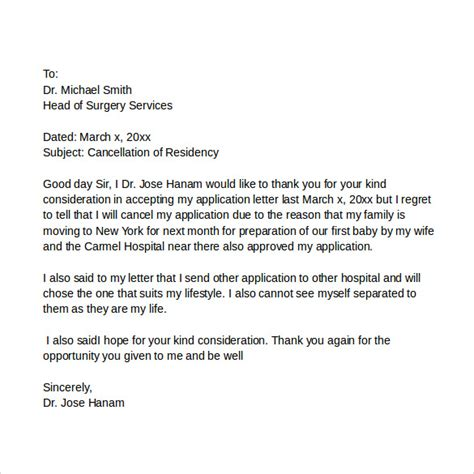 Application Withdrawal Letter Format Application Cover Letters 9 Sles Exles Format
