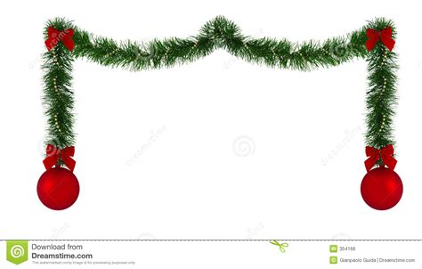 christmas decorations clipart free decoration border stock illustration illustration of ornaments 354166