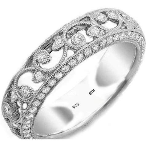 unique deco engagement rings wedding engagement bridal band floral ring
