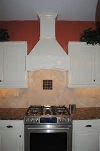 Oil Bronze Kitchen Faucet Decorative Range Hood Soft White Cabinets Travertine