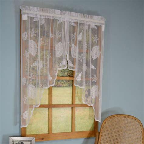 seashell lace curtains seashell lace curtain panels curtains seashells and