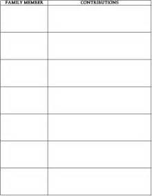 Html Table 2 Columns Family Member Chart