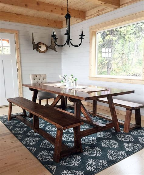 aspen dining room table cabin stuff pinterest build a 2x4 truss table for alaska lake cabin free and