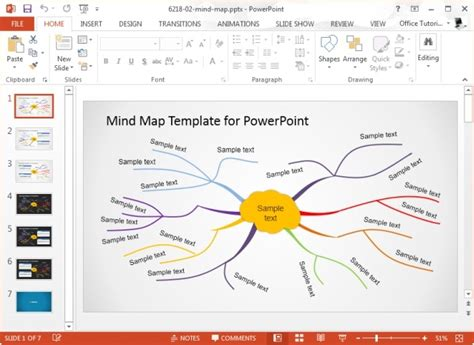 powerpoint map templates creative mind map template for microsoft powerpoint jpg