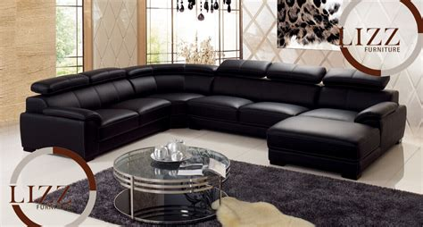 Leather L Shape by Black Leather L Shaped Sofa Free Shipping 2017