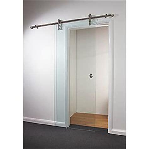 Sliding Glass Door Kit Spacepro Sliding Door Kit Clear Glass 840 X 2080mm Doors Screwfix