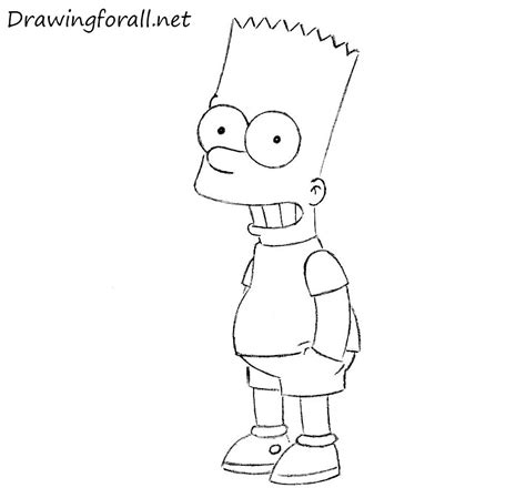 How To Draw The Simpsons On The by How To Draw Bart Drawingforall Net