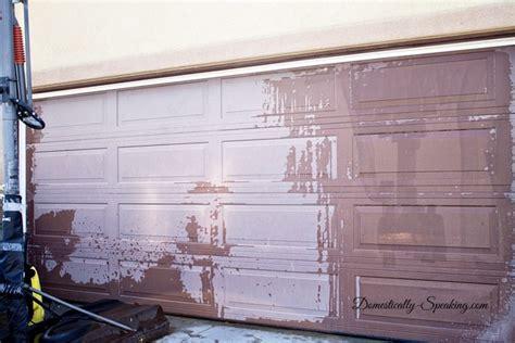 Can You Paint Garage Doors Diy Garage Door Makeover With Stain Domestically Speaking