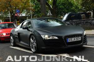 spotted audi r8 in matte black in germany por homme